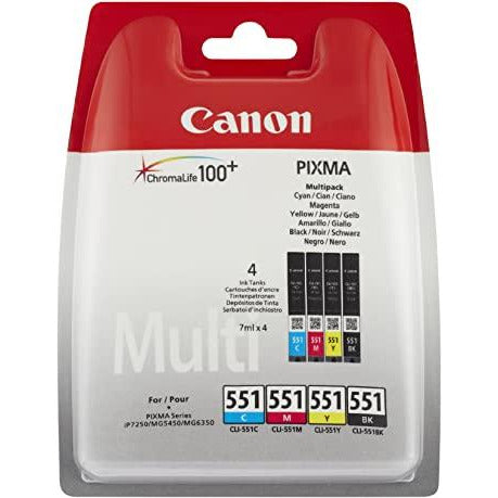 Canon 551 multipack ink cartridges