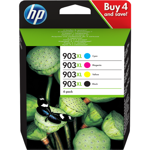 HP 903 XL Black and Colour Cartridges