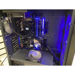 Exist2Game Gaming Turbine E2, High-End Custom PC Build, Intel i5 9400 2.9GHz, 16GB DDR4 RAM, 500GB M.2 NVMe SSD, Antec DF600 FLUX Mid Tower Case, Windows 10 Home, 1 Year Warranty. Add A GPU For Additional Cost.