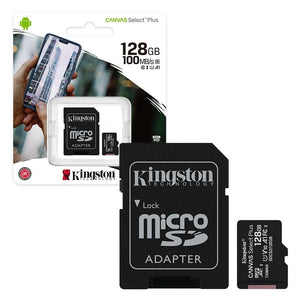 Kingston 128GB 100 MB/s with adaptor