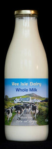 Wee Isle Dairy Pasturised Whole milk 1 Litre