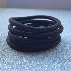 Black Hair Ties