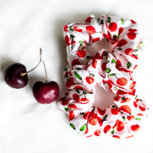 Load image into Gallery viewer, 100% Pure Mulberry Silk Hair Scrunchie - Sweet Cherries