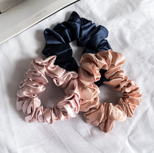 100% Pure Mulberry Silk Hair Large Scrunchies - New Colours