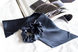 100% Pure Mulberry Silk Hair Scrunchies with Bunny Ears (More colours available)