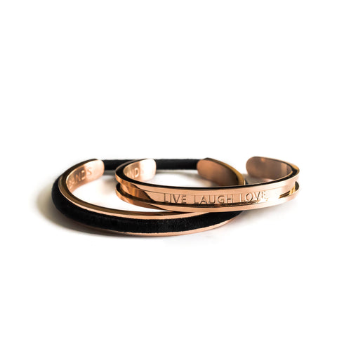 Wee Bands - Live Laugh Love 18k Rose Gold