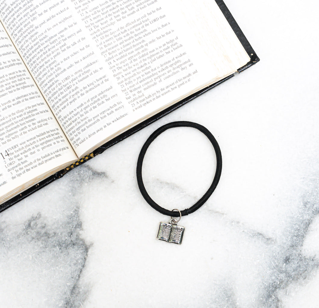 Holy Bible Hair Tie Charm