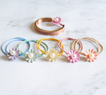 Load image into Gallery viewer, Sunflower Pearl Hair Ties