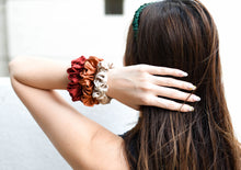 Load image into Gallery viewer, 100% Pure Mulberry Silk Scrunchies - The Prosperity Collection