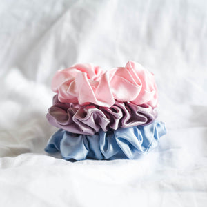 100% Pure Mulberry Silk Scrunchies - Sweet Valentine (Bundle Gift Set)
