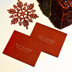 Wee Bands - Red Christmas Pouch