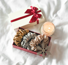 Load image into Gallery viewer, 100% Pure Mulberry Silk Scrunchies - Star Anise (Bundle Gift Set)