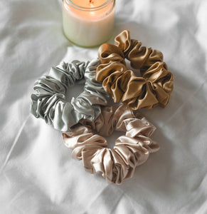 100% Pure Mulberry Silk Scrunchies - Star Anise (Bundle Gift Set)