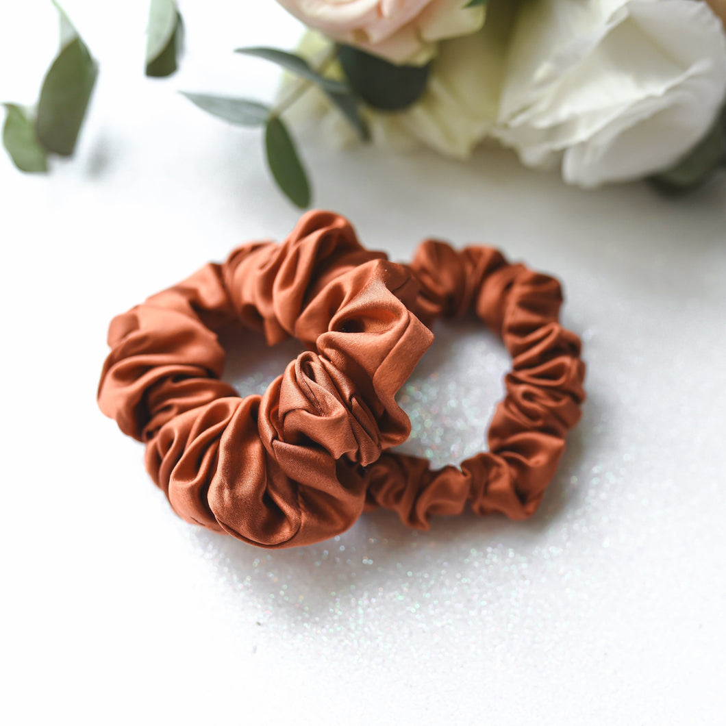 Wee Bands - CNY Prosperity Orange Silk Scrunchies Set