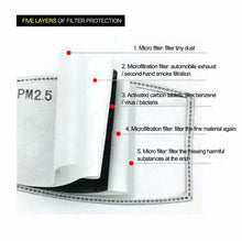 Load image into Gallery viewer, 5-layer activated carbon PM 2.5 filter protection refill packs