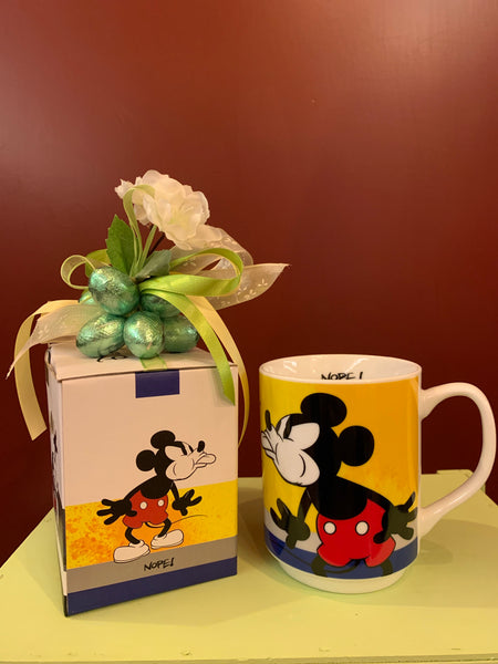 Mug Mickey Mouse Yellow con grappolo di cioccolatini Lindt