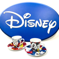 Set 2 Tazzine Caffè EGAN Mickey Donald Duck