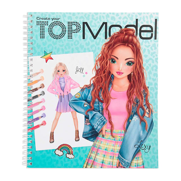 Libro para pintar Create Your Top Model