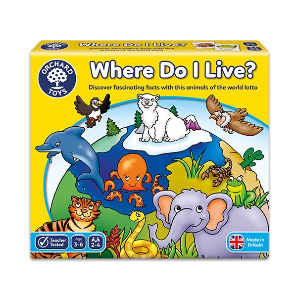 Aprenda de los Animales y sus Hábitats con Where Do I Live?