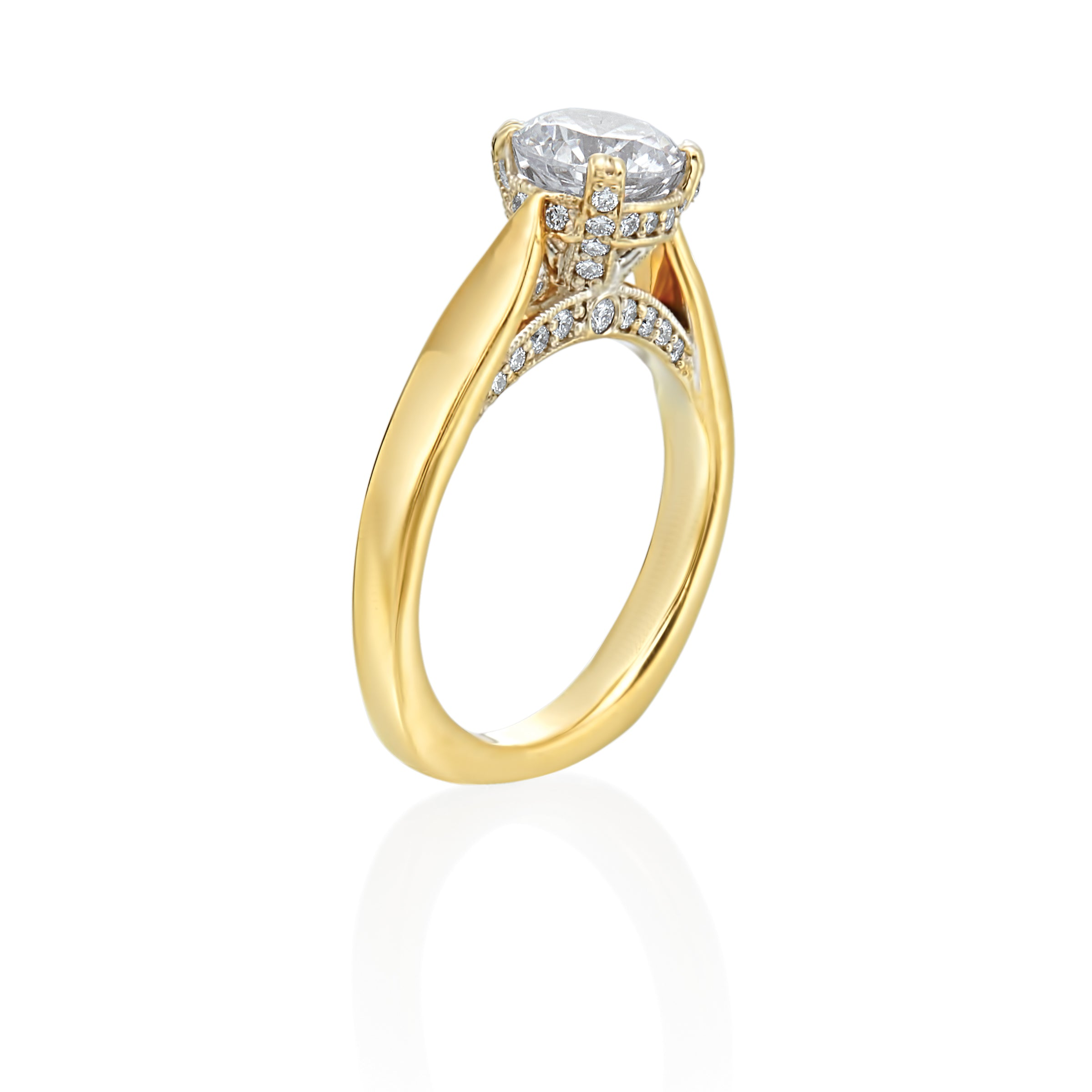 18K Yellow Gold Classic Double-Prong Solitaire Engagement Ring