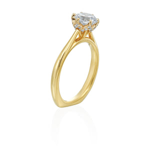 18K Yellow Gold Classic Six Prong Solitaire Engagement Ring