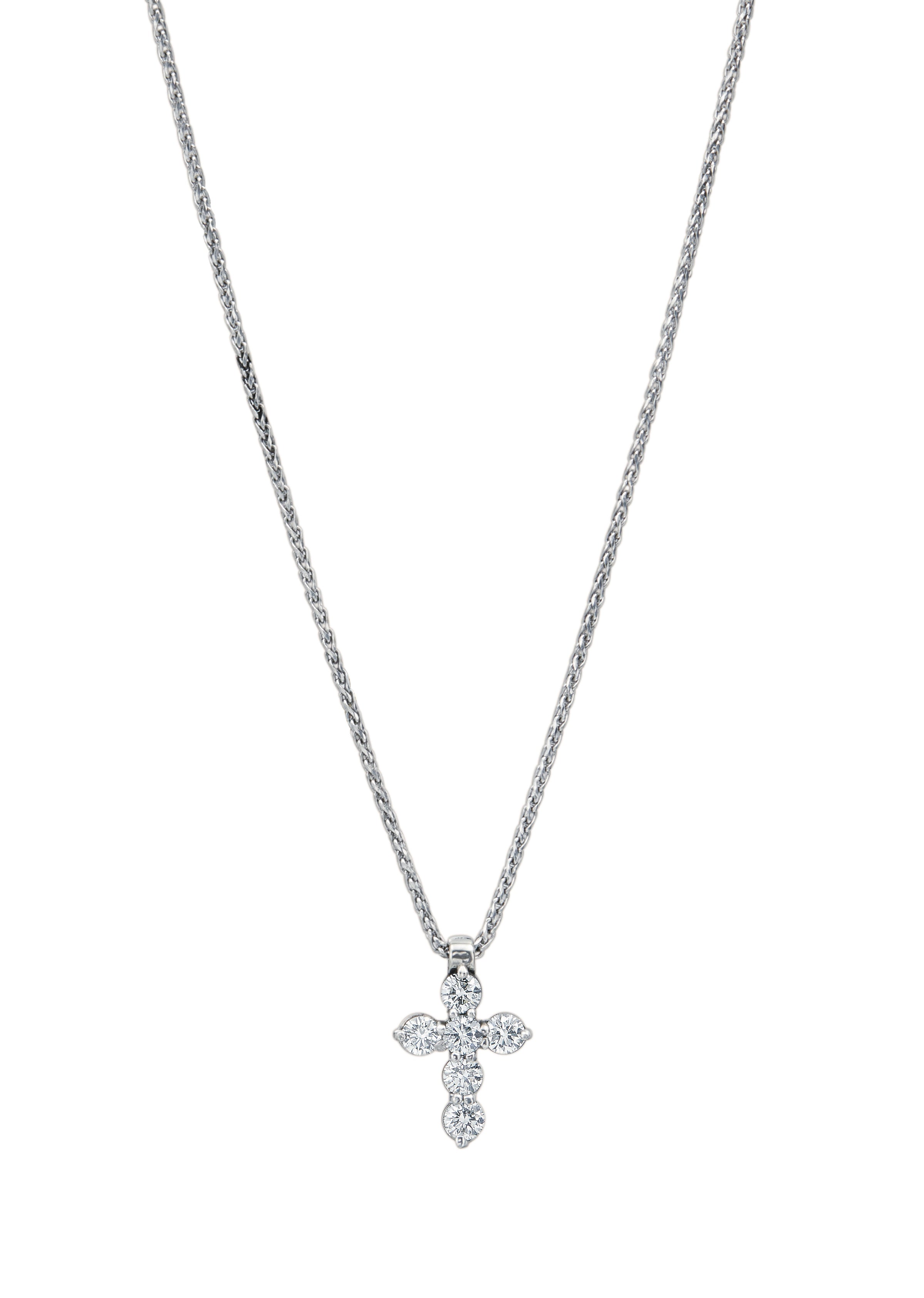 The Small Diamond Cross designed by David Gardner, 14K white gold
