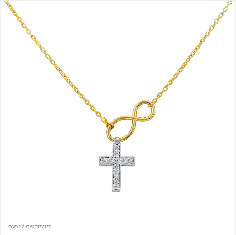 The Believer's Cross designed by David Gardner, 14K yellow gold