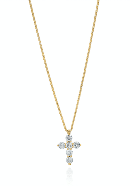 The Large Diamond Cross designed by David Gardner, 18K yellow gold