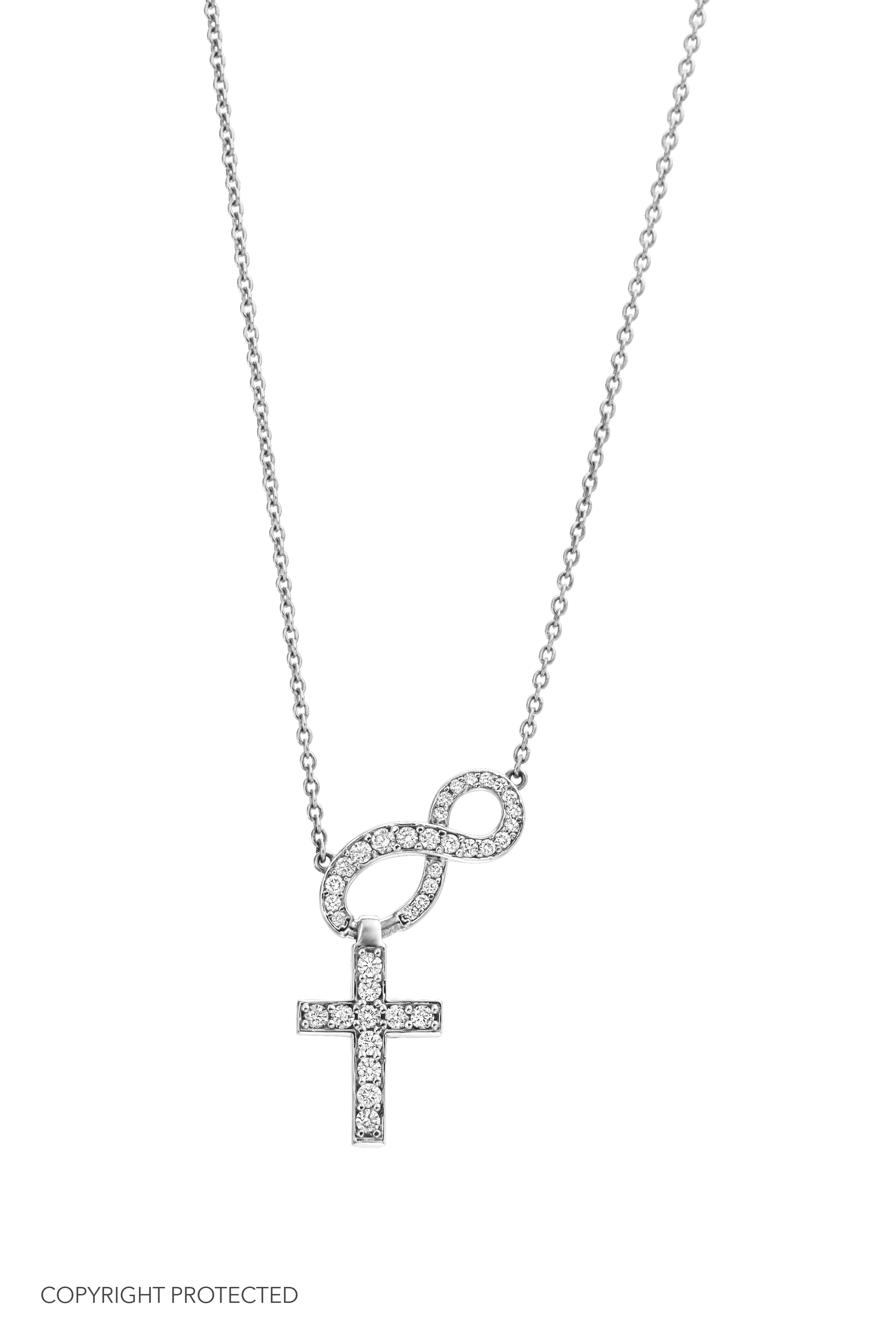 All Diamond Believer's Cross designed by David Gardner, 14K white gold