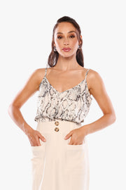 KEEP IT CLASSY Python V-Neck Cami