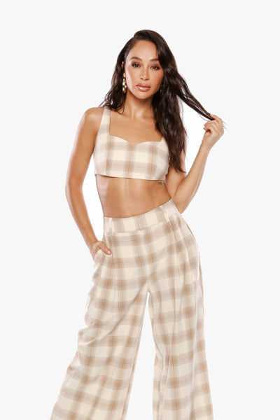 SHE LOVES THE ATTENTION Plaid Bralette