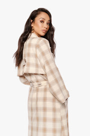 SHE LOVES THE ATTENTION Plaid Trench
