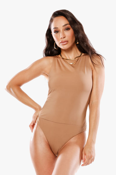 SO MUCH PRETTIER WHEN YOU SMILE Latte Body Suit