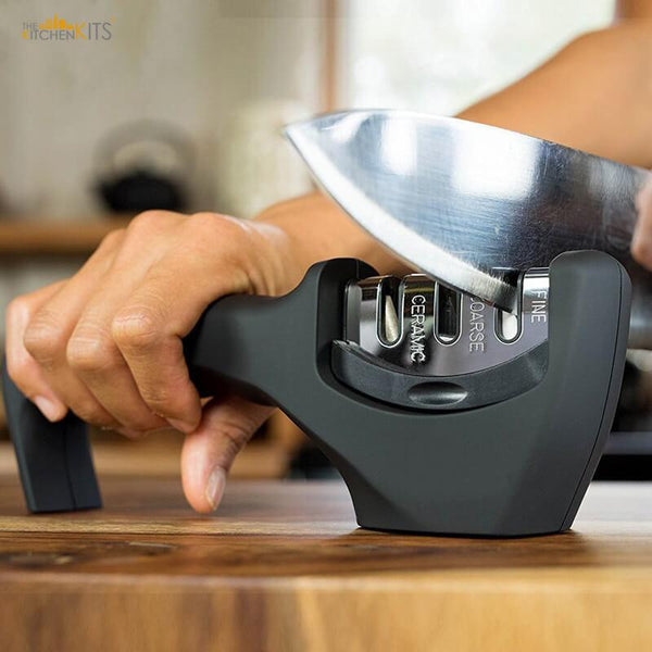 3 Stage Professional Kitchen Knife Sharpener-The KitchenKits