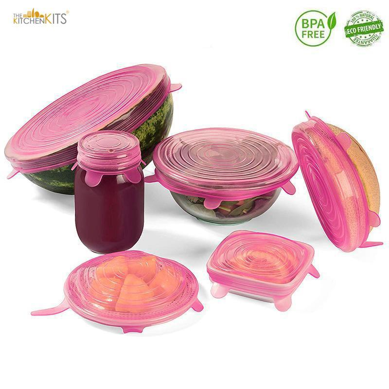 Reusable Silicone Airtight Food Wrap Covers-The KitchenKits