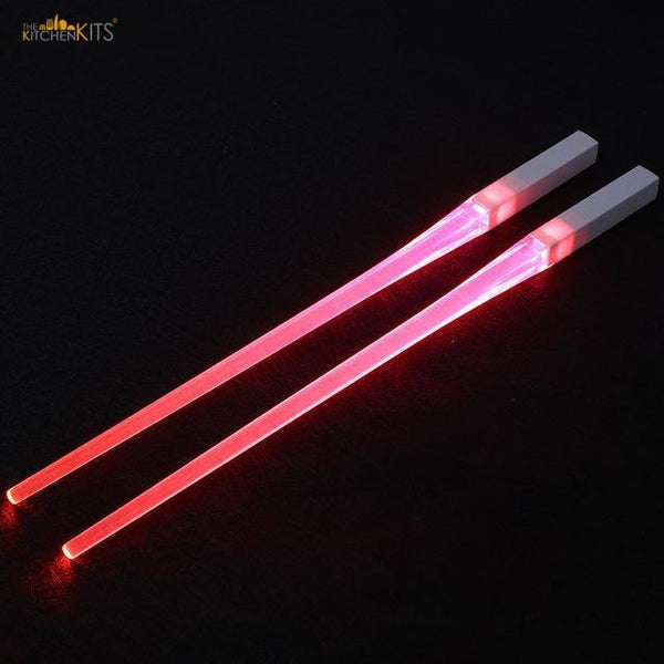 Light-It-Up LED Glowing Chopsticks (1 pair)-Pink-The KitchenKits