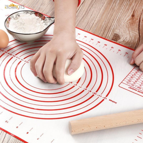 Non-Stick Silicone Baking Mat with Measurements-The KitchenKits