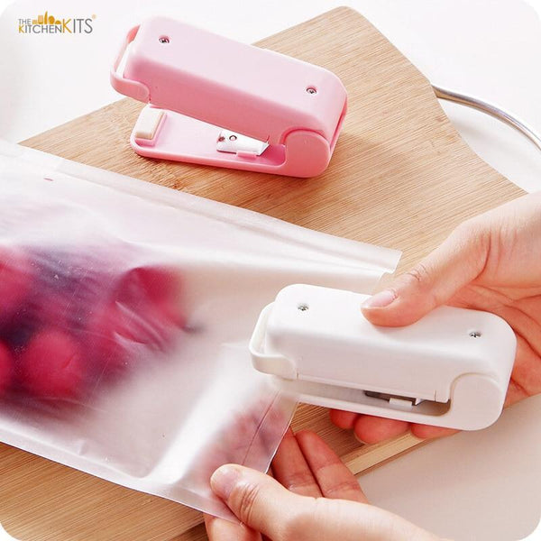 Portable Mini Plastic Bag Heat Sealer-The KitchenKits