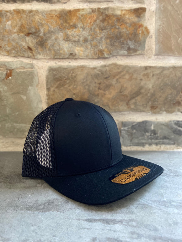 Black Plain Trucker cap