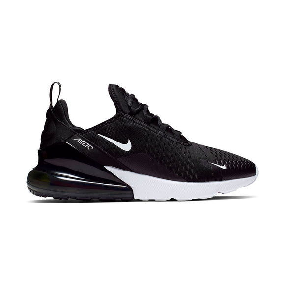 NIKE MEN'S AIR MAX 270 SHOES: Black/white