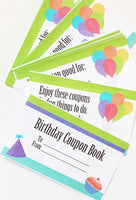 Birthday Coupon Book for Kids