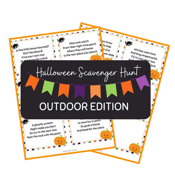 Halloween Scavenger Hunt - Outdoor Edition