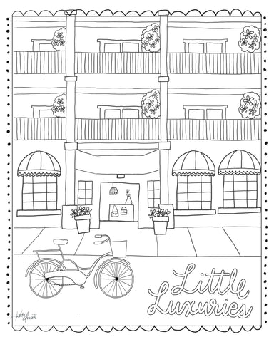 Little Luxuries Coloring Sheet