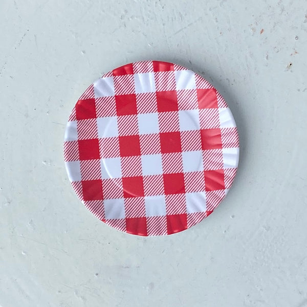 Red Gingham Plate Coaster