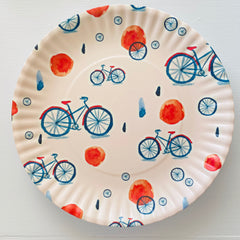 "Bicycle Reusable ""Paper"" Plates 9"""