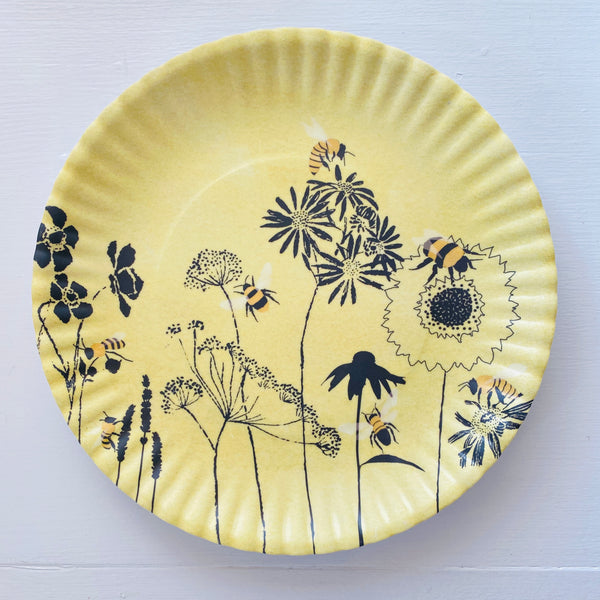 "Busy Bees Reusable ""Paper"" Plates 9"""