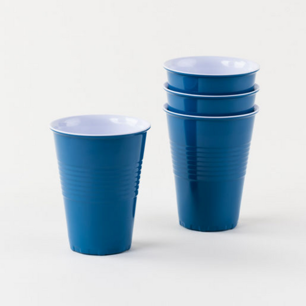 Blue Melamine Cup