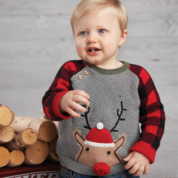 Boy's Buffalo Reindeer Sweater