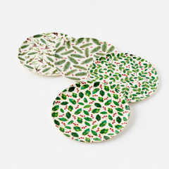 "Botanical Reusable ""Paper"" Plates 11"""