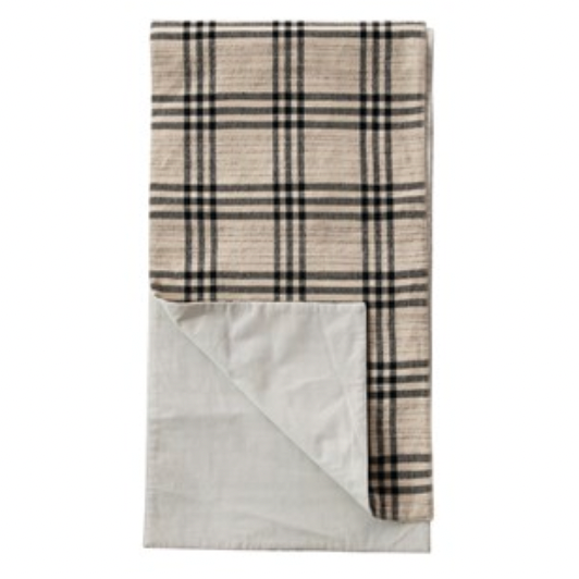Woven Cotton & Wool Table Runner